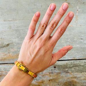 ♥️ Michael Kors ♥️ Orange & Gold Buckle Bracelet